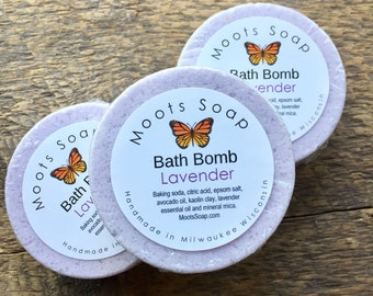 Bath Bomb - Lavender - Bath Fizzy - Bath Melt