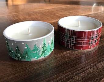 Winter Wonderland Soy Candle - Ceramic ramekin candle