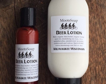 Beer Lotion, Moisturizing hand and body cream