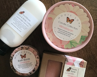 Himalayan Gift Set - Bath And Body Gift, Spa Gift, Hostess Gift, Bridal Gift, Bridal Shower Gift, Baby Shower Gift