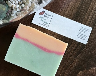 Cactus Flower Soap - Floral Soap, Handmade Soap, Palm Free Soap
