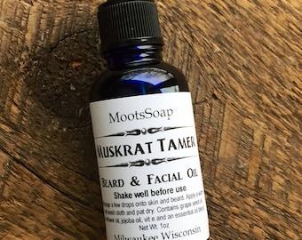 Beard Oil - The Muskrat Tamer, Woodland Scent, Beard and Facial Oil, Natural Skin Care, Men's Skin Care