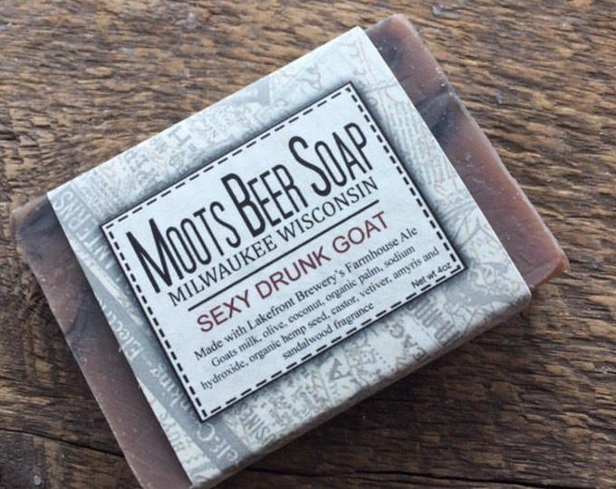 Featured listing image: Beer Soap - Sexy Drunk Goat - Goat's Milk Soap
