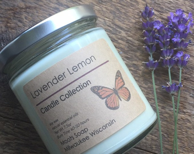 Featured listing image: Soy Candle - All Natural - Essential Oil Scents - Jar Candle