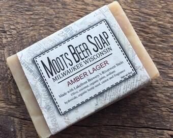 Beer Soap, Amber Lager, handmade