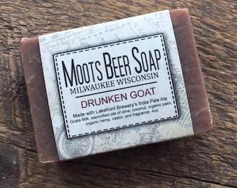 Beer Soap - The Drunken Goat  Beer Soap - Goat's Milk Soap