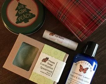Soap Gift Set - Soap, lotion and lip balm set. Hostess Gift, Christmas Gift Set, Corporate Gift