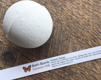 Coconut Milk - Bath Bomb - Bath Melt - Organic Shea Butter