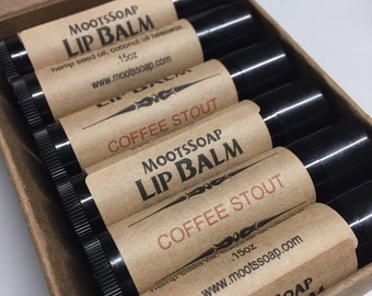Lip Balm, Coffee Stout Lip Balm, Beer Gift, Natural Lip Balm