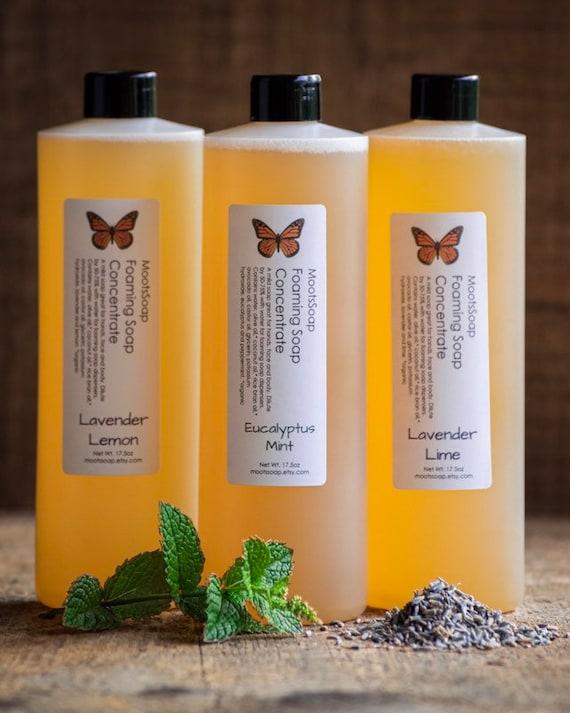 Foaming Liquid Soap - Concentate Refill - Body Wash - Natural Soap