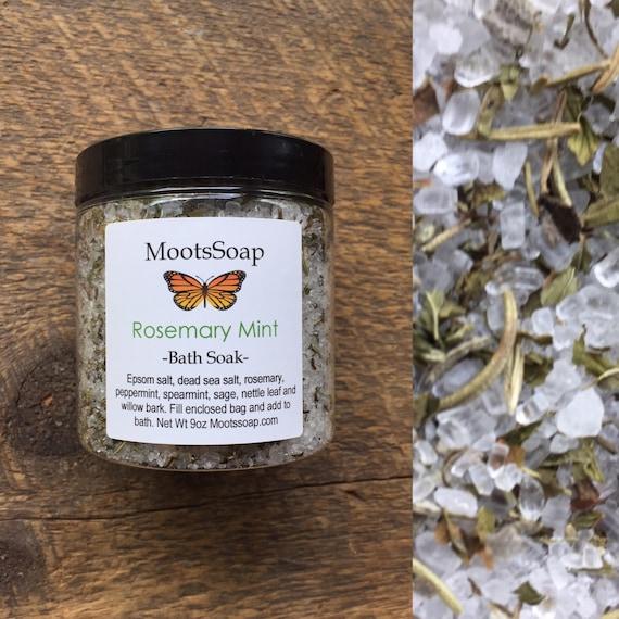 Rosemary Mint - Bath Soak - Bath Salts