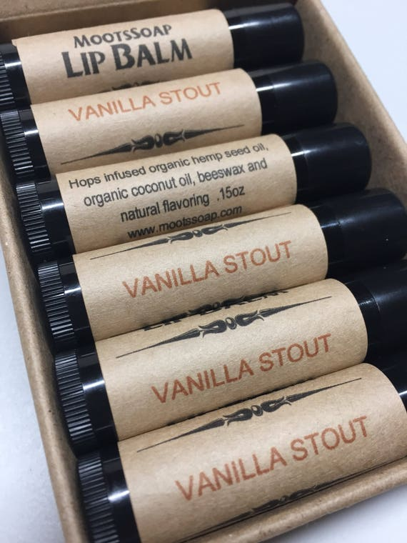 Lip Balm, Vanilla Stout, Natural Lip Balm, Beer Gift