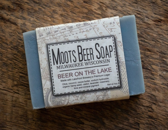 Beer Soap - Beer On The Lake - Rosemary, Lime and Lavender