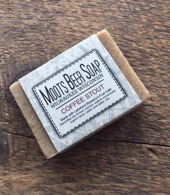 Beer Soap - Coffee Stout Beer Soap - Coffee Soap - Unscented Soap