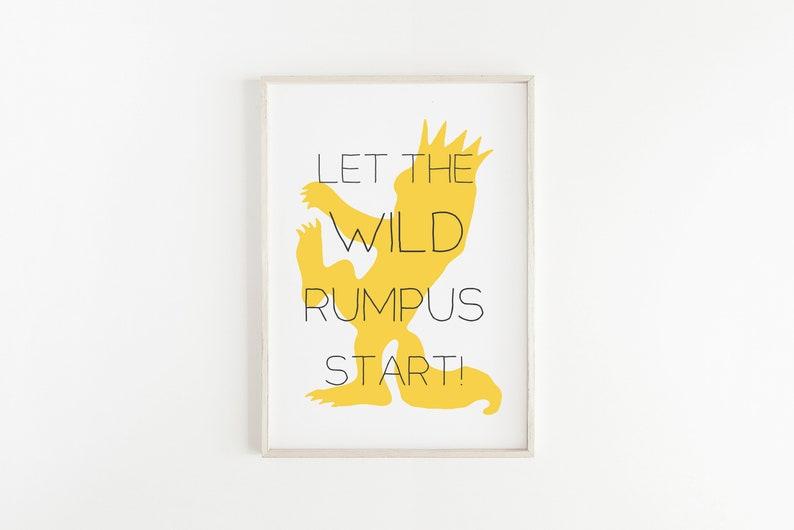 photo regarding Let the Wild Rumpus Start Printable referred to as Wherever the Wild Variables Are Nursery Printable, Wild Rumpus