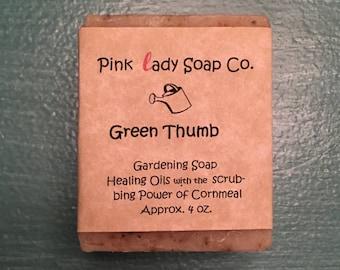 Green Thumb-  Gardening Soap- All natural- handmade- Homemade- Soap- Infusion- Green- bathing- Shower- Sensitive- Skin- Bubbles