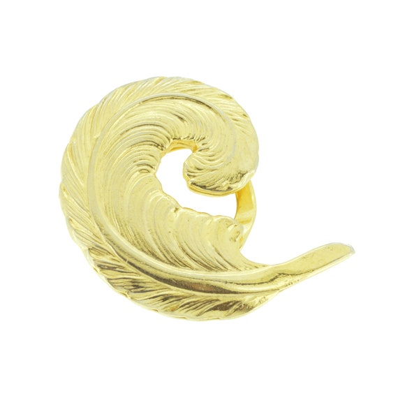 32mm D Fancy Diamante Scarf Pin// Brooch In Gold Tone