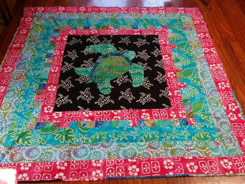 Turtle Lap Quilt Batik Fabrics  50 x 50 image 0