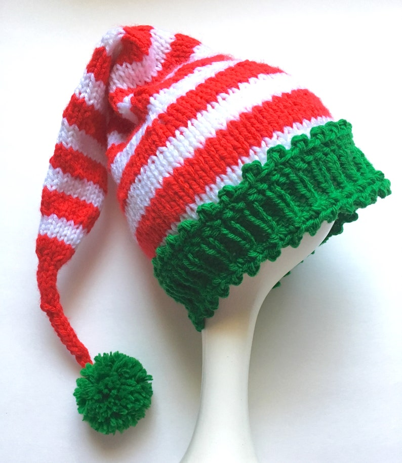 8960fbe8d7f Elf Baby Hat Hand Knit Stocking Cap Made to Order Baby