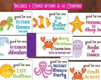 stocking stuffer for kids coupon book valentines day gift for etsy