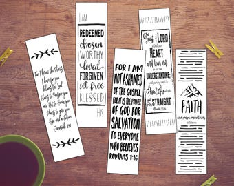 graphic about Romans Road Bookmark Printable titled Printable bookmarks Etsy