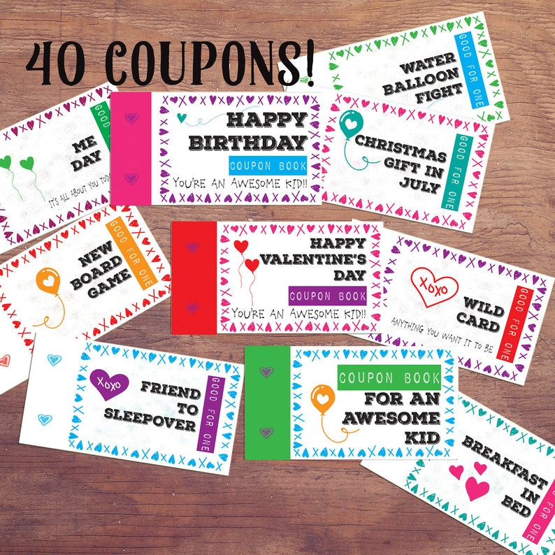 image about Carol's Daughter Printable Coupons named children coupon ebook present for youngsters printable birthday coupon codes quick obtain Do it yourself habits Profit for children Stocking Stuffer Easter basket