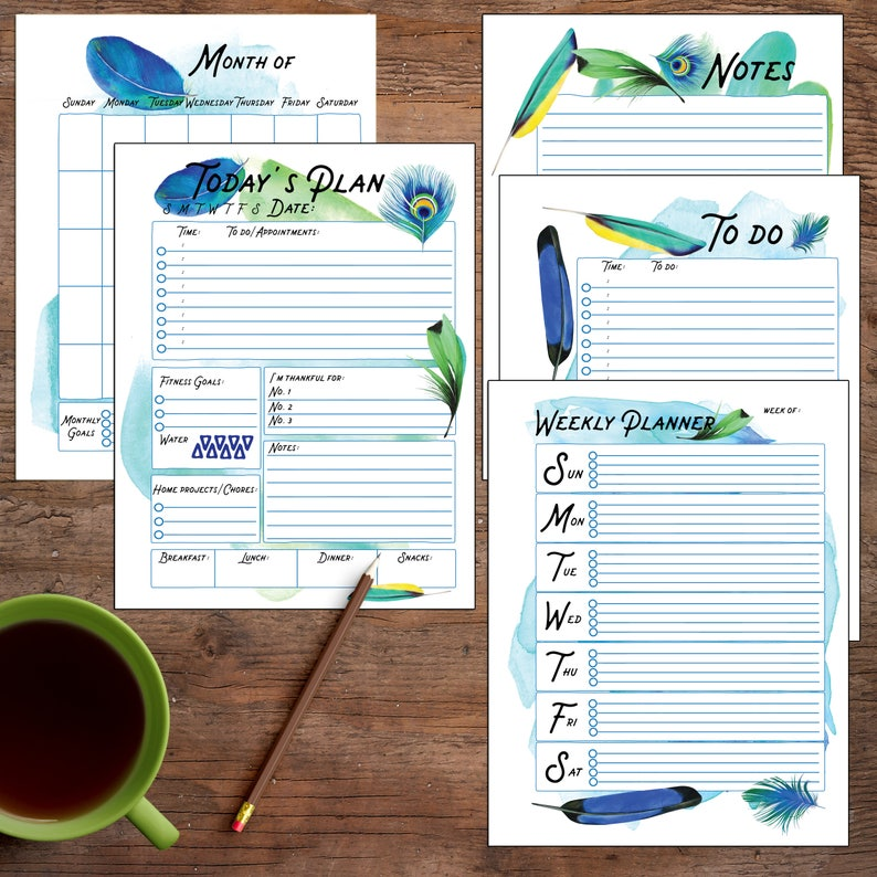graphic about Diy Daily Planner named Planner Deal, Each day Planner, Weekly, Regular monthly Do it yourself planner, Planner Printable Internet pages, Day-to-day Printable, Planner Printable Inserts, Refills