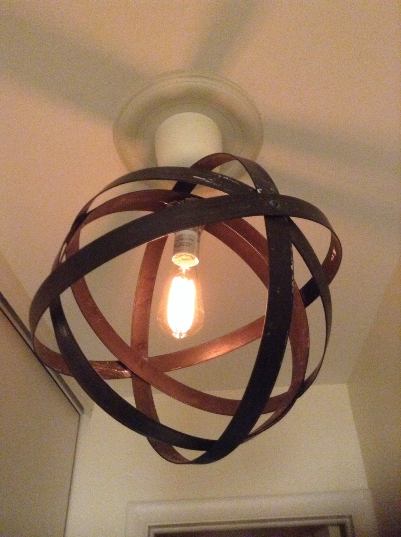 Metal orb chandelier | Etsy