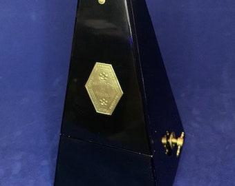 Vintage Seth Thomas Ebonized Wooden Wind-Up Metronome – Very Good Condition (B80)