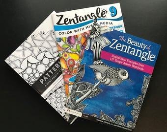 Pattern Play, Zentangle 9, Beauty of Zentangle Lot of 3 Tangling Books