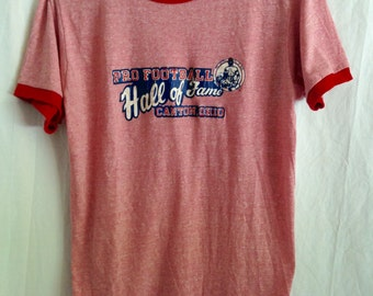 Pro Football Hall of Fame Vintage T Shirt 70s/80s Canton Ohio Champion Retro T Shirt Made in USA
