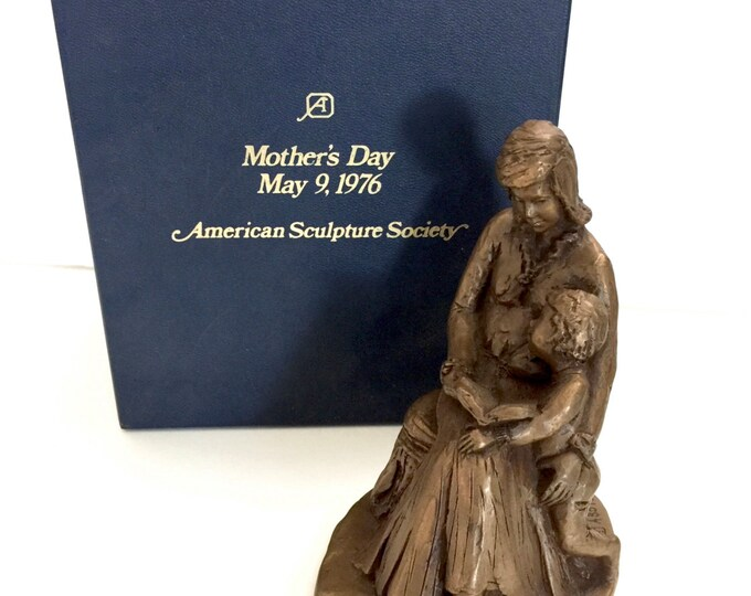 Signed Numbered Sculpted Nancy Twyman Limited Edition Gift for Mom Cast Bronze 1976 Mother/'s Day Sculpture American Sculpture Society