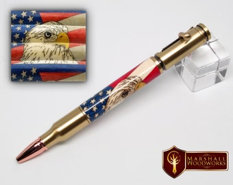Bolt Action Pen with American Eagle