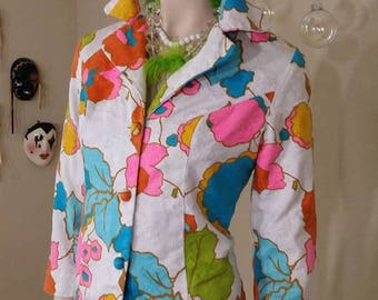 Vintage 60s neon colors jacket blazer By Scene iv