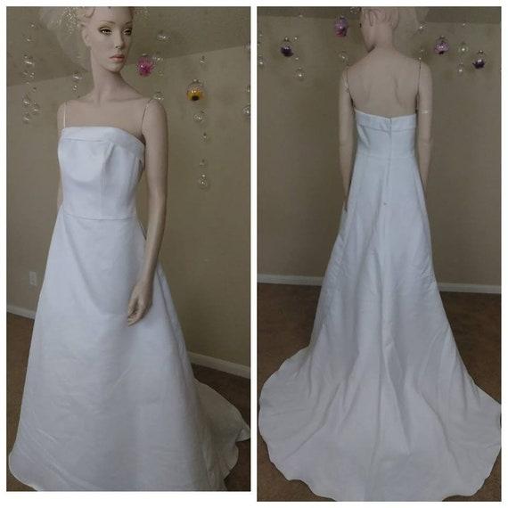 Beautiful White wedding dress plus size 14w by Davids Bridal