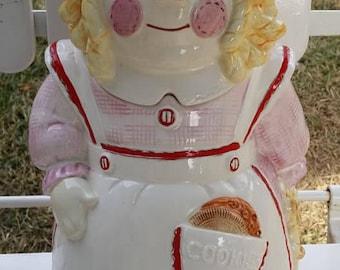 Vintage Raggedy Ann Rag Doll Hand Painted Cookie Jar- Doll Cookie Jar by Sigma