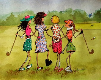 Note Cards Golf Lady Humor Ironing Day Golf Gals Friends Golf Etsy