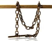 Vintage Charm Bracelet Or Antique Rolled Gold Pocket Watch Chain
