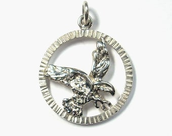 Eagle Pendant Sterling Silver Nature Inspired Wildlife Jewelry