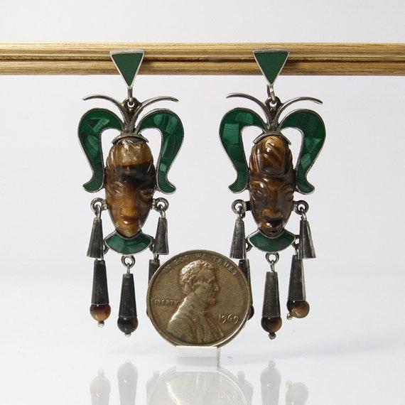 Mexican Silver Pierced Earrings