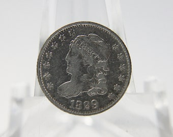 1829 Capped Bust Silver Half Dime XF40 Details