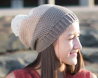 Pattern: Carlyle Slouch Hat Crochet Pattern PDF (Slouchy Hat Crochet Pattern by Little Monkeys Crochet) Slouch Crochet Pattern Easy Hat