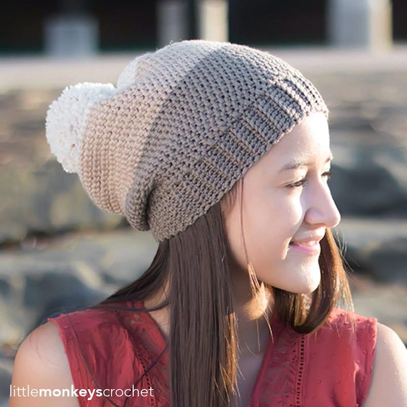 3d11c13b8b7 Pattern  Carlyle Slouch Hat Crochet Pattern PDF Slouchy Hat