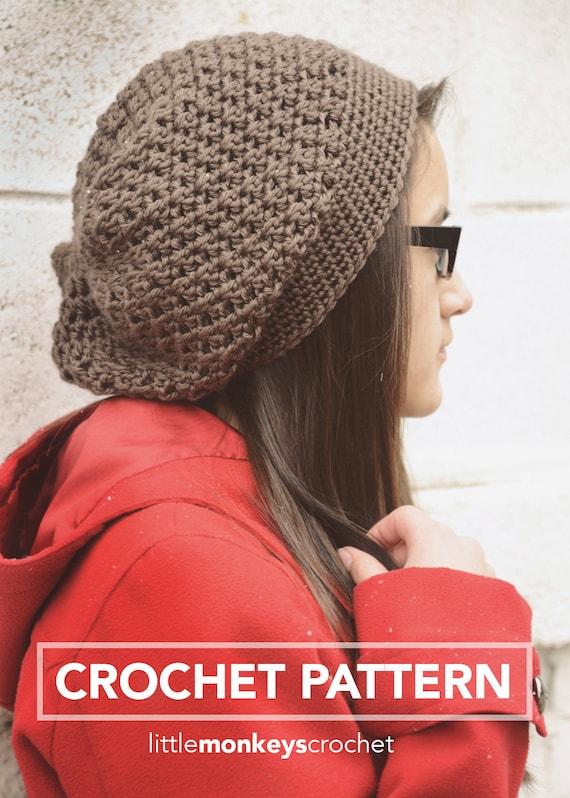 Slouch Hat Crochet Pattern Pdf The Jenny Slouch Hat Crochet Etsy