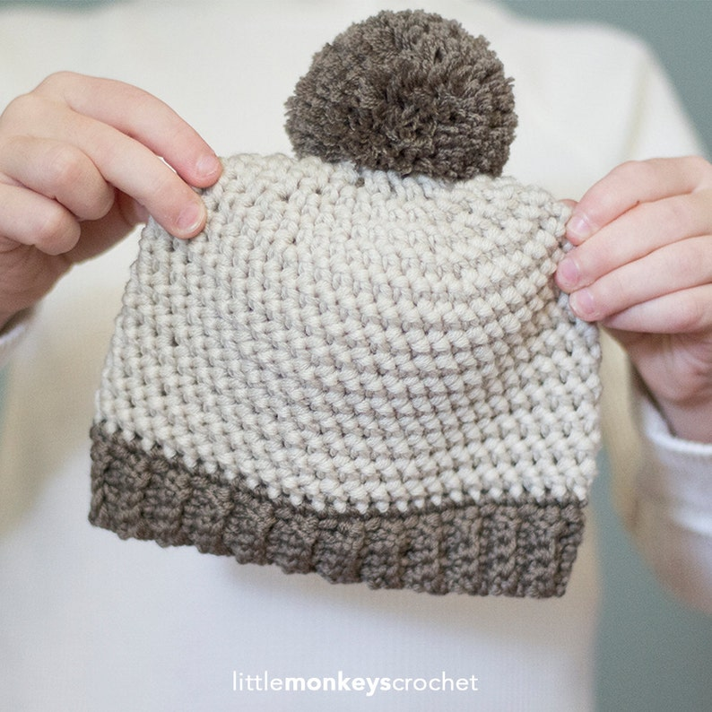 3f2ca65c3bd7 Crochet Pattern Herringbone Baby Hat Baby Newborn Pom Pom