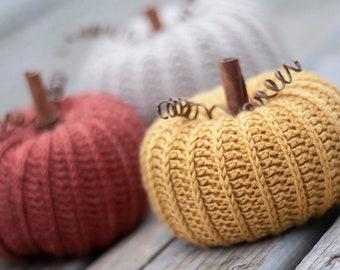 Pattern: Little Rustic Pumpkin Crochet Pattern PDF (Rustic Pumpkin Pattern by Yarn + Chai) fall, autumn, decor, pumpkin, halloween, farm