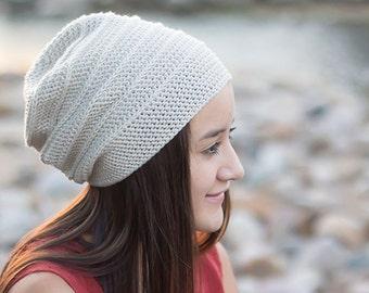 Pattern: Shiplap Slouch Hat Crochet Pattern PDF (Slouchy Hat Crochet Pattern by Little Monkeys Crochet) Slouch Crochet Pattern Easy Hat