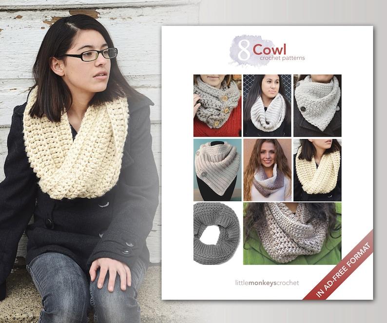 Cowl Crochet Patterns  8 Pattern E-Book by Little Monkeys image 0
