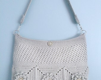 Purse Crochet Pattern, Crochet Shoulder Bag Pattern (The Wildflower Shoulder Bag Pattern by Little Monkeys Crochet) crochet, pattern, PDF