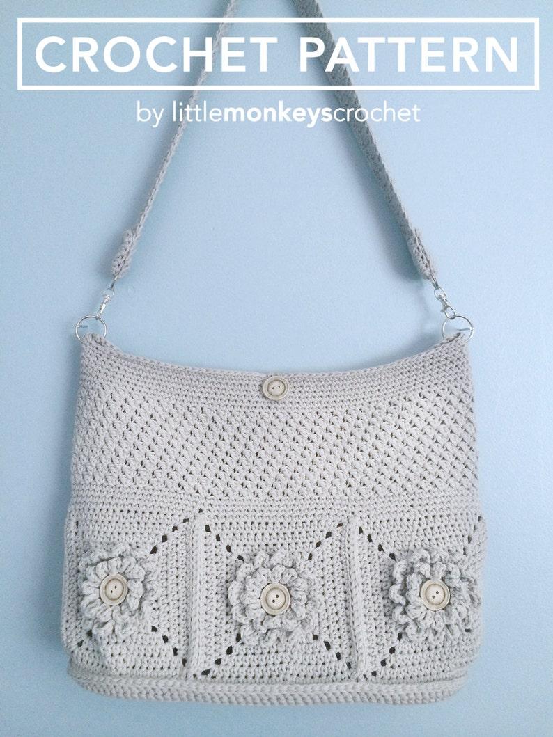 Purse Crochet Pattern Crochet Shoulder Bag Pattern The image 1